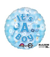 "18"" New Baby Boy Mylar Balloon"