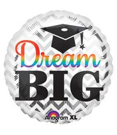 "18"" Dream Big Grad Balloon Packaged"