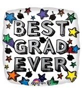 "18"" Best Grad Ever Balloon Packaged"