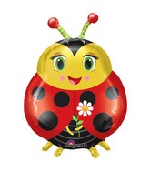 "27"" Cute Ladybug SuperShape Mylar Balloon"