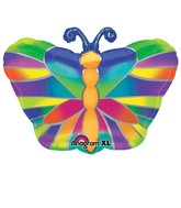 Junior Shape Tropical Butterfly Balloon Packaged