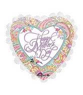 "22"" Intricates Happy Mother's Day Paisley Balloon Packaged"