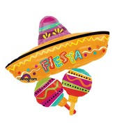 "32"" SuperShape Fiesta Fun Cluster Balloon"
