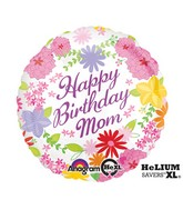 "18"" Pastel Flower Mom Bday Balloon"