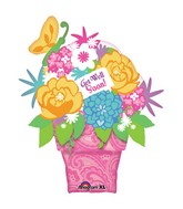 "35"" Get Well Flower Pot SuperShape"