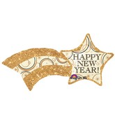 "27"" SuperShape New Years Shooting Gold Star Balloon"