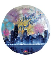 "32"" Jumbo Holographic Panoramic New Years Skyline"