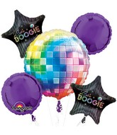 Bouquet 70&#39s Disco Fever Balloon Packaged