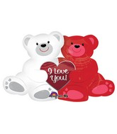 "35"" Love Bears SuperShape"