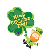 "33"" SuperShape St. Patty's Leprechaun Balloon Packaged"