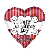 Jumbo Happy Valentines Day Candy Striped Balloon