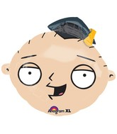 "18"" Junior Shape Family Guy Stewie-Grad Balloon Packaged"