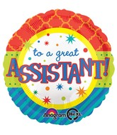 "18"" Assistant Bright Patterns Balloon"