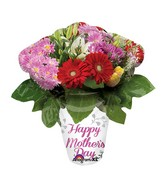 "27"" SuperShape Happy Mother&#39s Day Flower Vase Balloon"