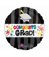 Jumbo Congrats Grad Wavy Bursts Balloon Packaged