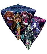 "17"" Ultrashape Diamondz Monster High Balloon Packaged"