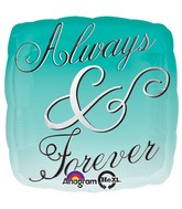 "18"" Always & Forever Ombre Mylar Balloon"