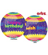 "16"" Happy Birthday Confetti Orbz Balloons"