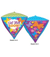 "15"" x 17"" Get Well Butterfly Garden Diamondz"