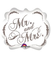 "25"" Sparkling Mr. & Mrs. SuperShape"