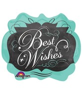 "25"" Chalkboard Best Wishes SuperShape"