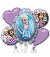 Bouquet Frozen Birthday Balloon Packaged