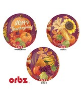 "16"" Orbz Thanksgiving Balloon Packaged"