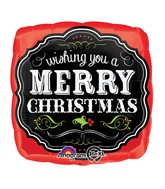 "18"" Merry Christmas Chalkboard Balloon"
