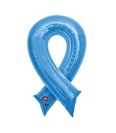 "36"" Periwinkle Blue Cause Ribbon Balloon Packaged"