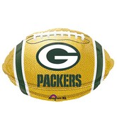 Junior Shape Green Bay Packers Team Colors Balloon