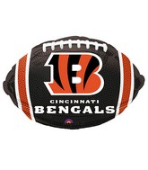 Junior Shape Cincinnati Bengals Team Colors Balloon