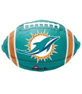 Junior Shape Miami Dolphins Team Colors Balloon