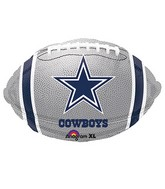 Junior Shape Dallas Cowboys Team Colors Balloon
