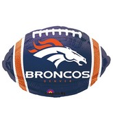 Junior Shape Denver Broncos Team Colors Balloon