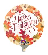 "4"" Airfill Only Thanksgiving Leaves Balloon"