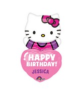 "32"" Personalized Hello Kitty Balloon Packaged with stickers"