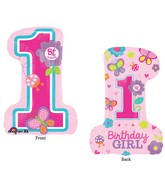 "28"" SuperShape Sweet Birthday Girl Balloon"