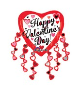 "31"" Happy Valentines Day Heart Streamers Balloon Packaged"