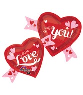"39"" SuperShape In Love With You Hearts Balloon"