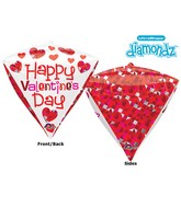 "17"" Ultrashape Diamondz Geometric Balloon Packaged"