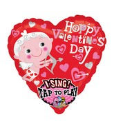 "29"" Singing Happy Valentines Day Cupid Packaged"