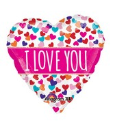 "21"" ColorBlast Love You Pink Banner Balloon Packaged"