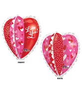 "30"" UltraShape Multi-Panel Heart Balloon"