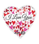 "32"" Jumbo Love You Happy Hearts Balloon"