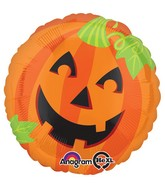 "28"" Jumbo Pumpkin Smiles Balloon Packaged"