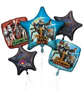 Bouquet Star Wars Rebels Birthday Balloon Packaged