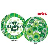 "16"" Orbz Multi-Film Happy St. Patrick&#39s Day Balloon Packaged"
