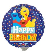 "9"" Airfill Only Sesame Street Birthday Confetti Balloon"