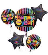 Bouquet Bright New Year&#39s Eve Balloon Packaged