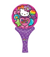 "12"" Inflate-a-Fun Balloon Hello Kitty Balloon Packaged"